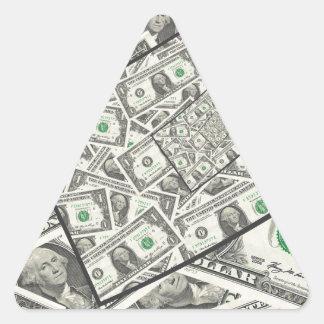 Dollarschein-Entwurf Dreieckiger Aufkleber