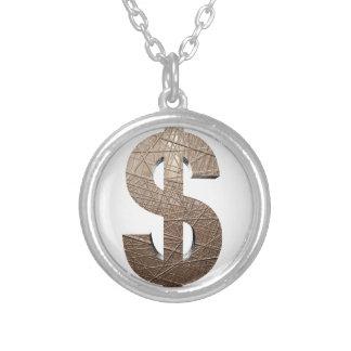 Dollarzeichen Versilberte Kette