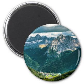 Dolomitalpen, Italien Runder Magnet 5,1 Cm