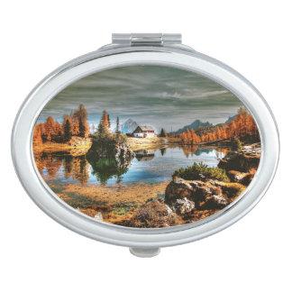 Dolomitberge, Italien Taschenspiegel