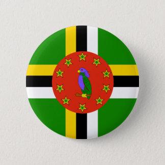Dominica-Flagge Runder Button 5,7 Cm