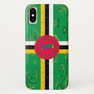 Dominica-Flaggen-Telefon-Kasten iPhone X Hülle