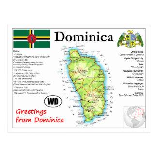 Dominica-Karten-Postkarte Postkarte