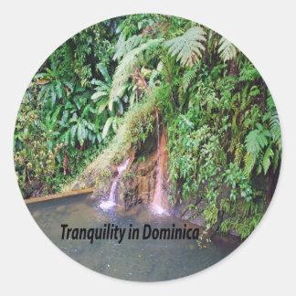 Dominica Runder Aufkleber