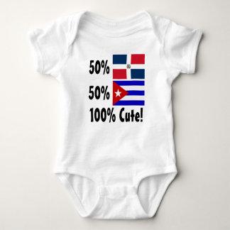 Dominikaner 100% 50% Kubaner-50% niedlich Baby Strampler