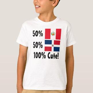 Dominikaner 100% 50% Peruaner-50% niedlich T-Shirt