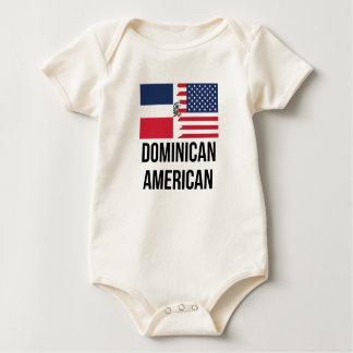 Dominikanische amerikanische Flagge Baby Strampler