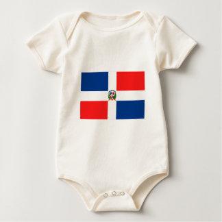 Dominikanische Flagge Baby Strampler
