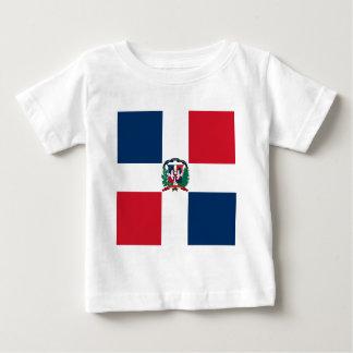 Dominikanische Flagge ganz über Entwurf Baby T-shirt