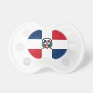 Dominikanische Flagge ganz über Entwurf Schnuller