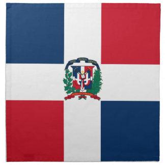 Dominikanische Flagge ganz über Entwurf Stoffserviette