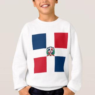 Dominikanische Flagge ganz über Entwurf Sweatshirt