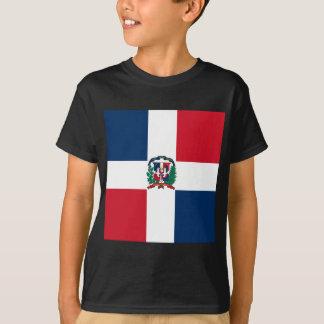 Dominikanische Flagge ganz über Entwurf T-Shirt