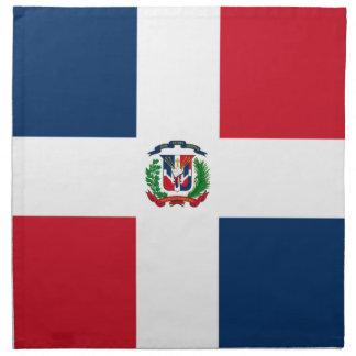 Dominikanische Flagge Stoffserviette
