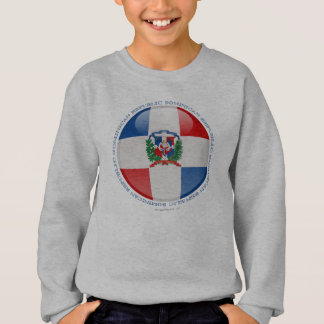 Dominikanische Republik-Blasen-Flagge Sweatshirt