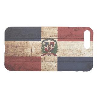 Dominikanische Republik-Flagge auf altem hölzernem iPhone 8 Plus/7 Plus Hülle