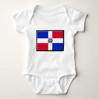 Dominikanische Republik-Flagge Baby Strampler