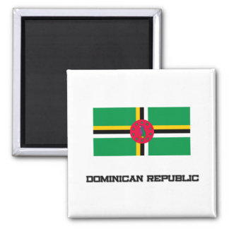 Dominikanische Republik-Flagge Quadratischer Magnet