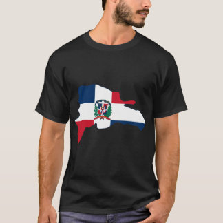 Dominikanische Republik-Flaggen-Karte TUN T-Shirt