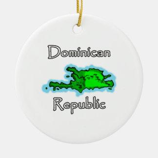 Dominikanische Republik-Karte Keramik Ornament