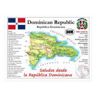 Dominikanische Republik-Karten-Postkarte Postkarte
