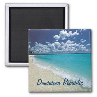 Dominikanische Republik-Magnet Quadratischer Magnet