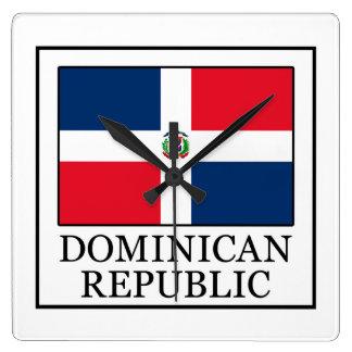 Dominikanische Republik Quadratische Wanduhr