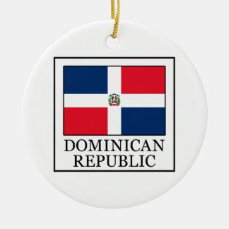 Dominikanische Republik Rundes Keramik Ornament