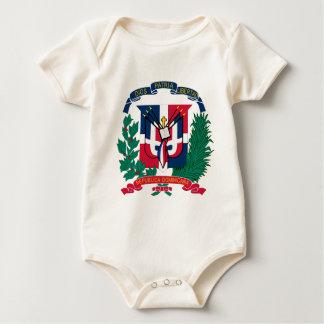 Dominikanische Republik-Schild Baby Strampler