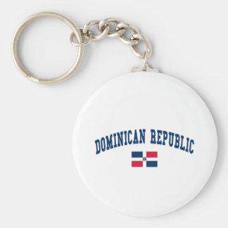 DOMINIKANISCHE REPUBLIK STANDARD RUNDER SCHLÜSSELANHÄNGER