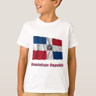 Dominikanische Republik-wellenartig bewegende T-Shirt