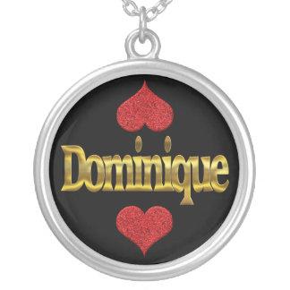 Dominique-Halskette Versilberte Kette