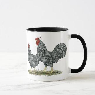Dominique-Hühner Tasse