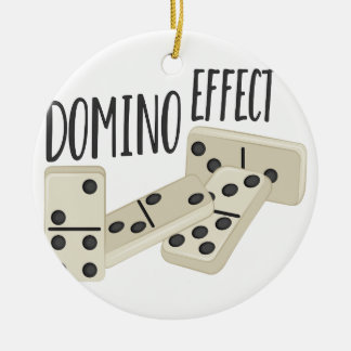 Domino-Effekt Keramik Ornament