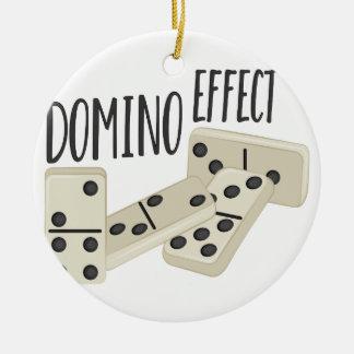 Domino-Effekt Rundes Keramik Ornament