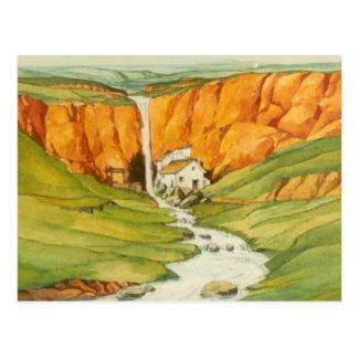 DON QUICHOTE - Animation Background (1979) Postkarte