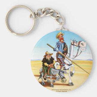 DON QUICHOTE u. SANCHO KEYCHAIN- IVth. Jahrhundert Schlüsselanhänger