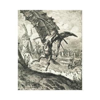 Don Quichote und die Windmühlen Leinwanddrucke