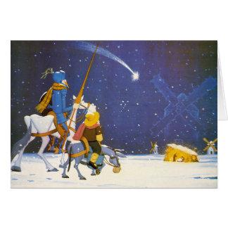 DON QUICHOTE - Weihnachtskarte Felicitación Grußkarte