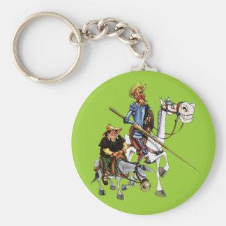 DON QUIJOTE, SANCHO,… - Llavero-Cervantes Standard Runder Schlüsselanhänger