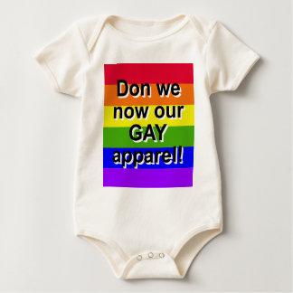 Don wir jetzt unser homosexuelles Kleid!  Gay Baby Strampler