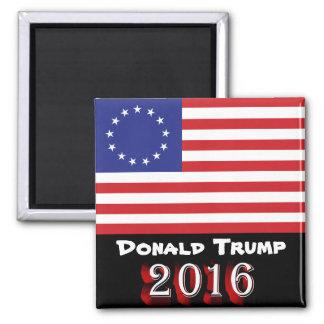 Donald Trump 2016 - Flagge Betsy Ross 13-Star US Quadratischer Magnet