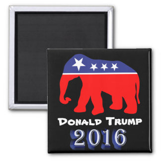 Donald Trump 2016 - Roter, weißer u. blauer Quadratischer Magnet