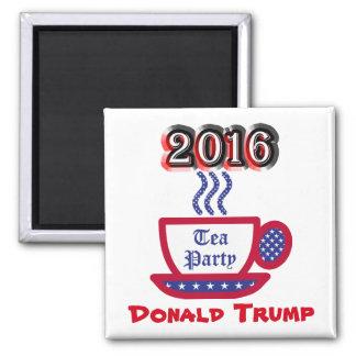 Donald Trump 2016 - Tee-Party Quadratischer Magnet