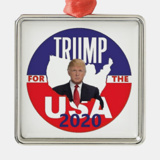 Donald Trump 2020 Silbernes Ornament