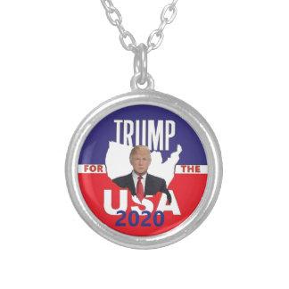 Donald Trump 2020 Versilberte Kette