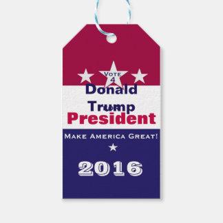Donald Trump für Präsidenten 2016 Geschenkanhänger