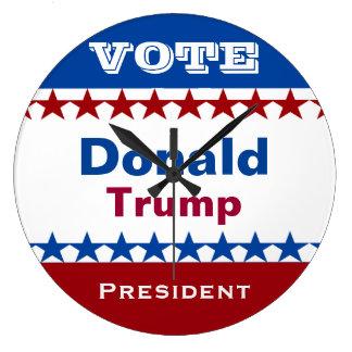 Donald Trump für Präsidenten 2016 Große Wanduhr