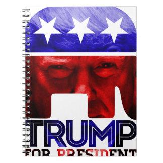 Donald Trump für Präsidenten 2016 mit Foto Spiral Notizblock