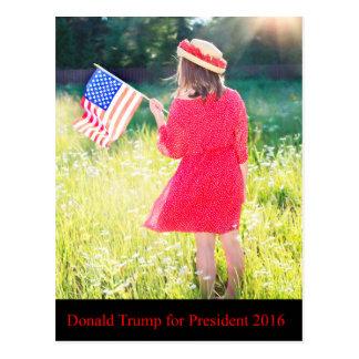 Donald Trump für Präsidenten 2016 Postkarte